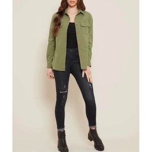 Emma James olive green blazer Sz 16